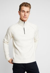 TOM TAILOR - COSY TROYER - Trui - offwhite - 0