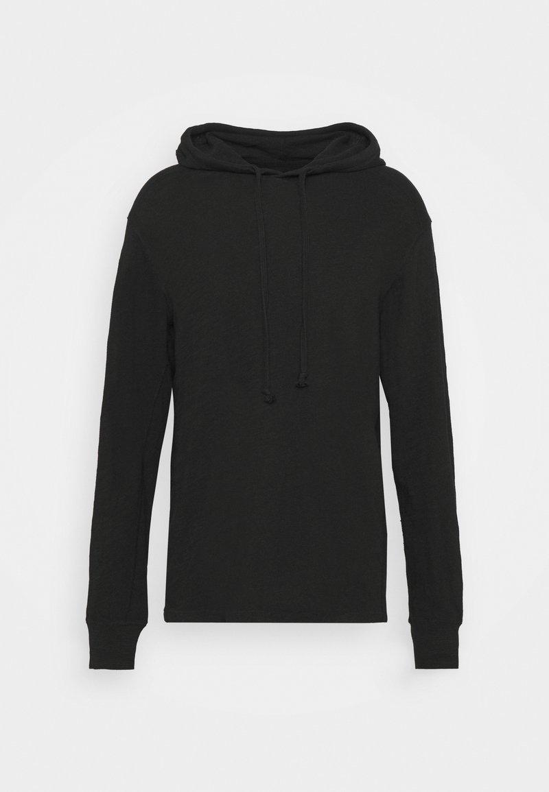 rag & bone - FLAME HOODIE - Pullover - black