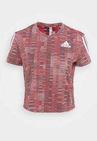 adidas Performance - TEE - Camiseta estampada - scarlet/white - 6