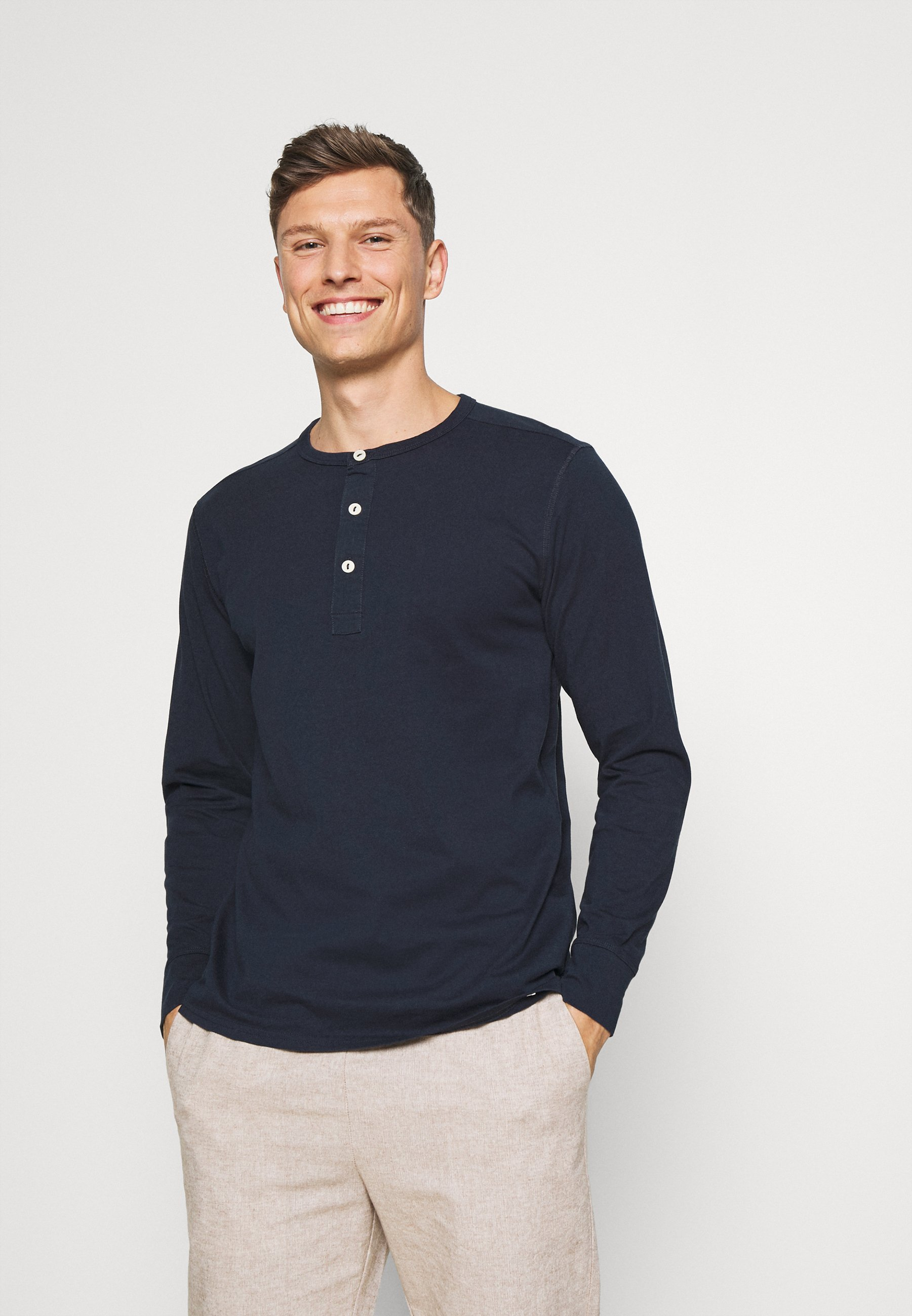 Men SLHBAKER SPLIT NECK 2 PACK - Long sleeved top
