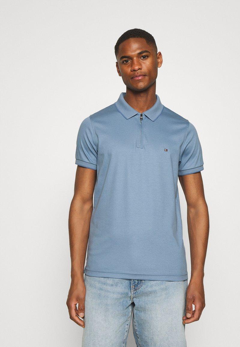 Tommy Hilfiger - INTERLOCK ZIP SLIM  - Polo shirt - colorado indigo