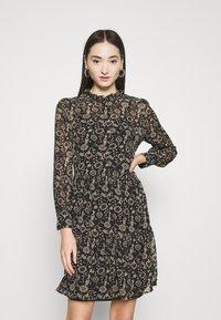 ONLY - ONLAMBRE SHORT DRESS  - Day dress - black - 0