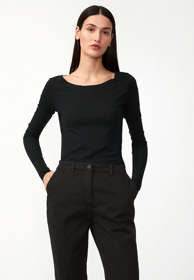 EVVAA CUSTOMIZED - Long sleeved top - black
