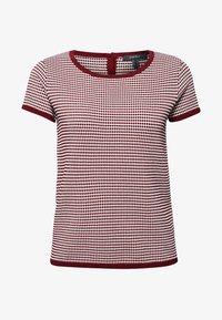 Esprit Collection - MIT TUPFEN-STRUKTUR - Print T-shirt - bordeaux/red - 4