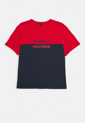CREW NECK TEE - T-Shirt print - red