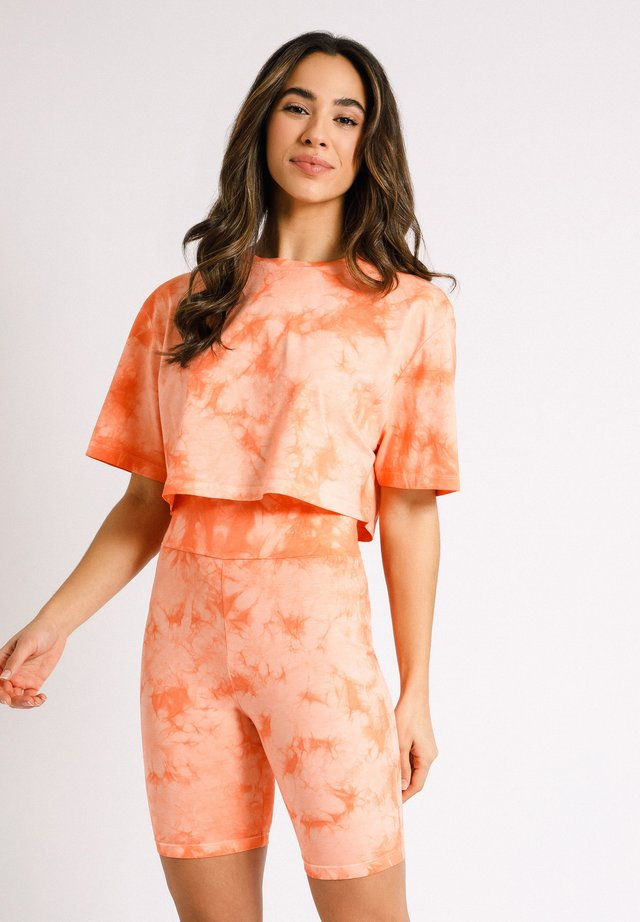 NYC WELLNESS ORANGE TIE DYE - Triko s potiskem - orange