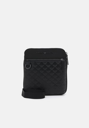 FLAT CROSSBODY EAGLE POCKET UNISEX - Across body bag - black