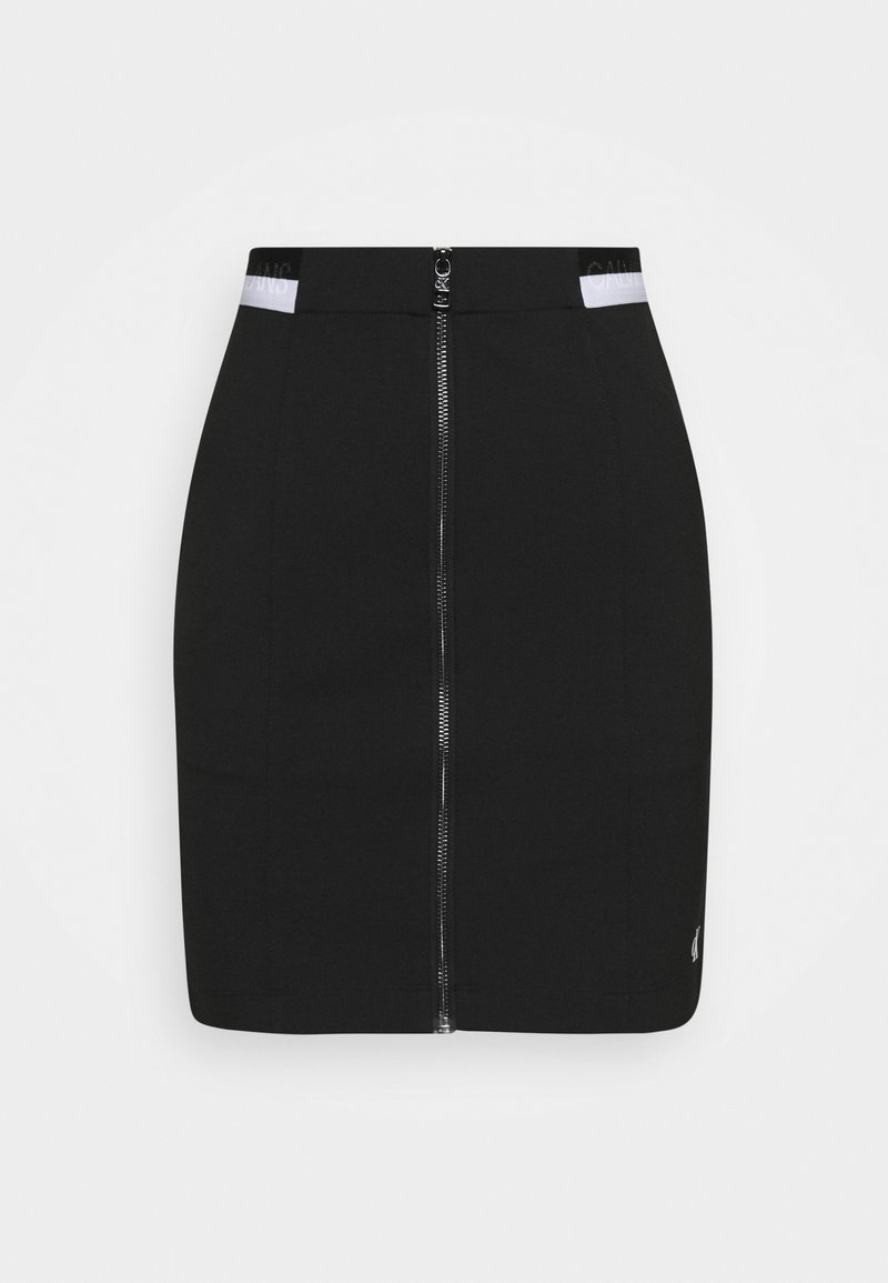 Calvin Klein Jeans - ZIP MONOCHROME MILANO SKIRT - Pencil skirt - black