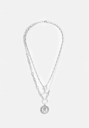 COIN LAYERED NECKLACE UNISEX - Kaulakoru - silver-coloured