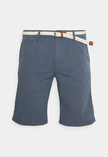 WITH BELT - Shorts - navy