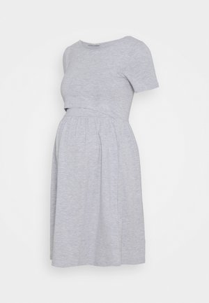 NURSING Jersey dress - Žerzejové šaty - light grey
