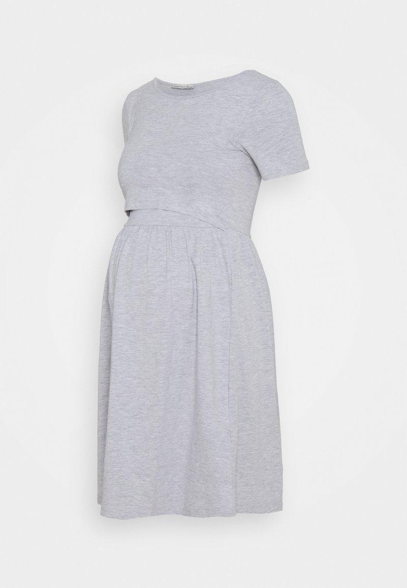 Anna Field MAMA - NURSING Jersey dress - Jerseykjole - light grey