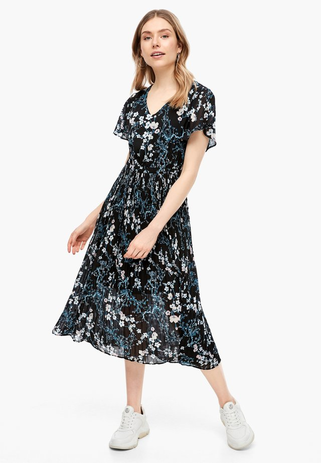 MIT FLORALEM PRINT - Korte jurk - black aop