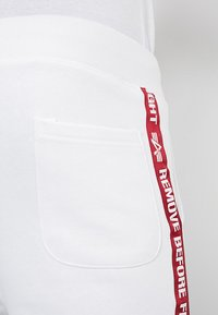 Alpha Industries - TAPE JOGGER - Tracksuit bottoms - white - 5