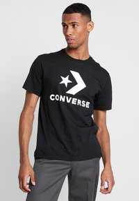 Converse - STAR CHEVRON TEE - Triko spotiskem - converse black - 0