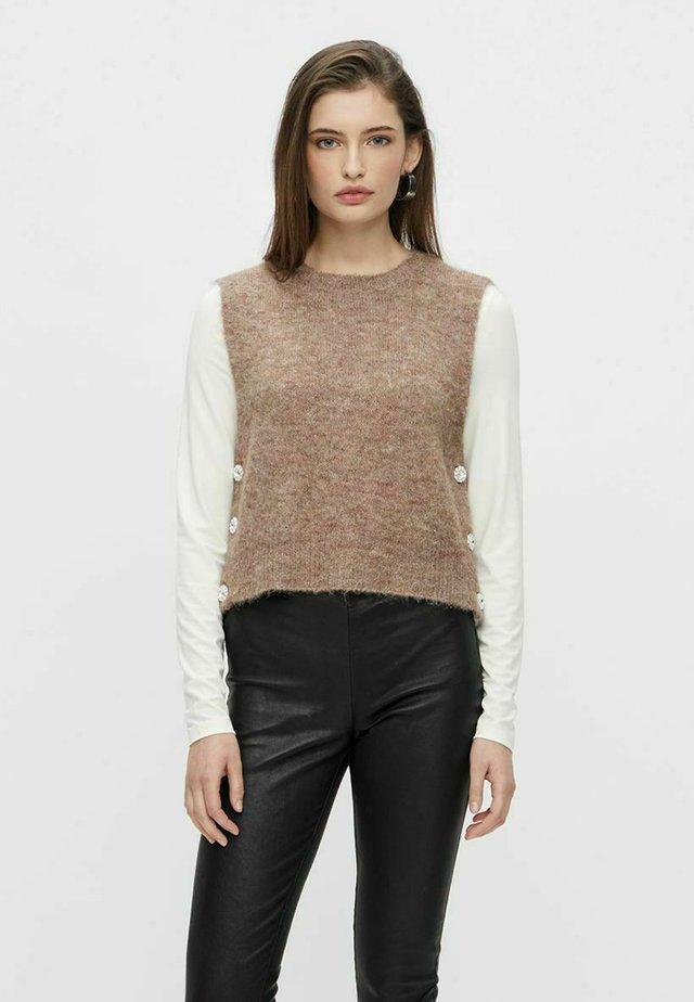 YASLINE - Jersey de punto - tawny brown
