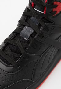 Puma - BACKCOURT MID UNISEX - Sneakers high - black/high risk red/dark shadow/silver - 5