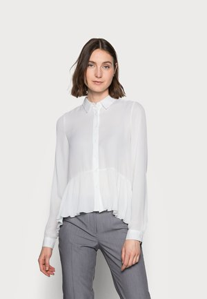 ONLGRORGINA PLISSE - Button-down blouse - cloud dancer