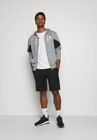 Puma - REBEL HOODIE  - Zip-up sweatshirt - medium gray heather - 1