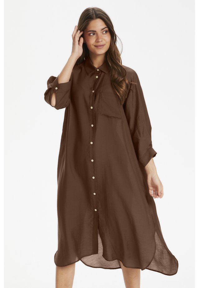 ETANEPW DR - Shirt dress - forest brown