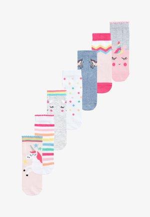 7 PACK - Socks - pink