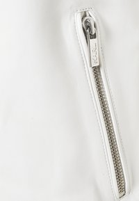 KARL LAGERFELD - BIKER JACKET - Kožená bunda - white - 2