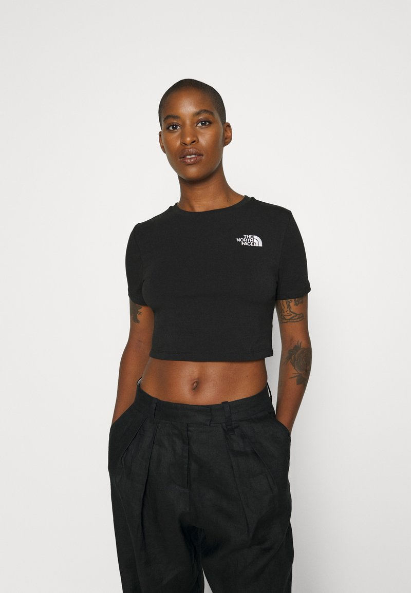 The North Face - CROP TEE - T-shirt con stampa - black