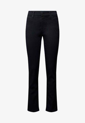 SLIM FIT MIT LABEL-PATCH - Slim fit jeans - marineblau