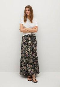 Mango - Pleated skirt - black - 1