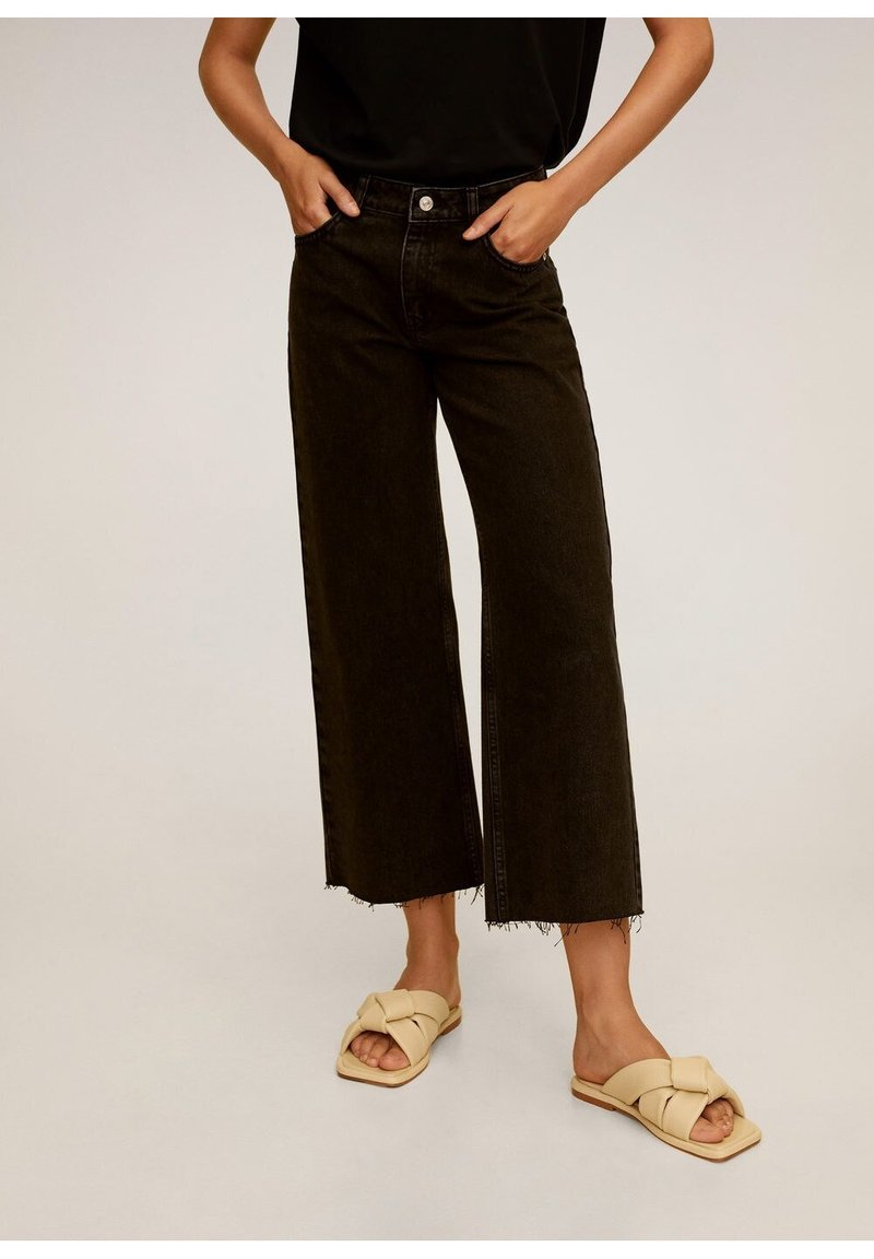 Mango - CANDY - Flared jeans - black denim