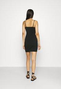 Even&Odd - Scallop edge mini strap dress - Shift dress - black - 2