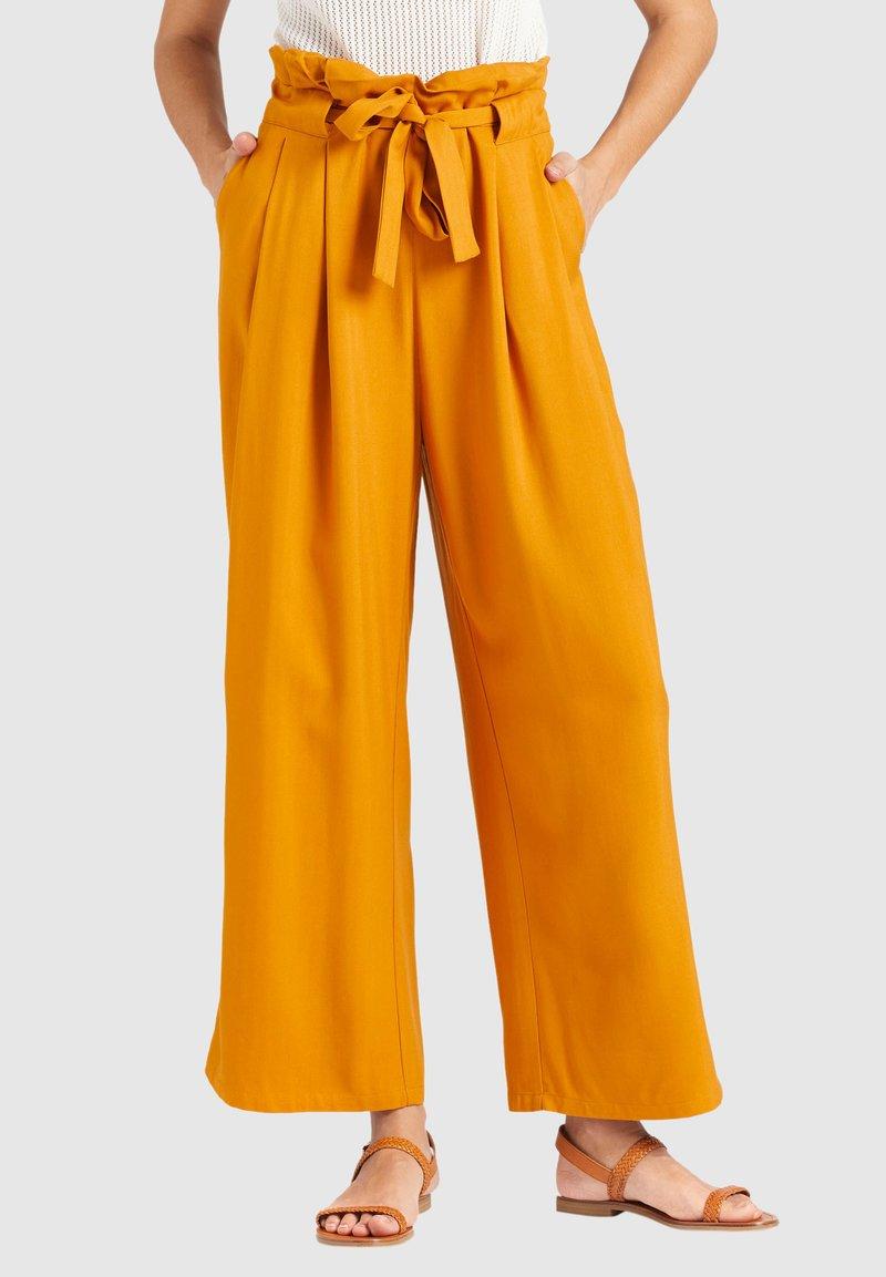 khujo - EIVOLA - Trousers - yellow