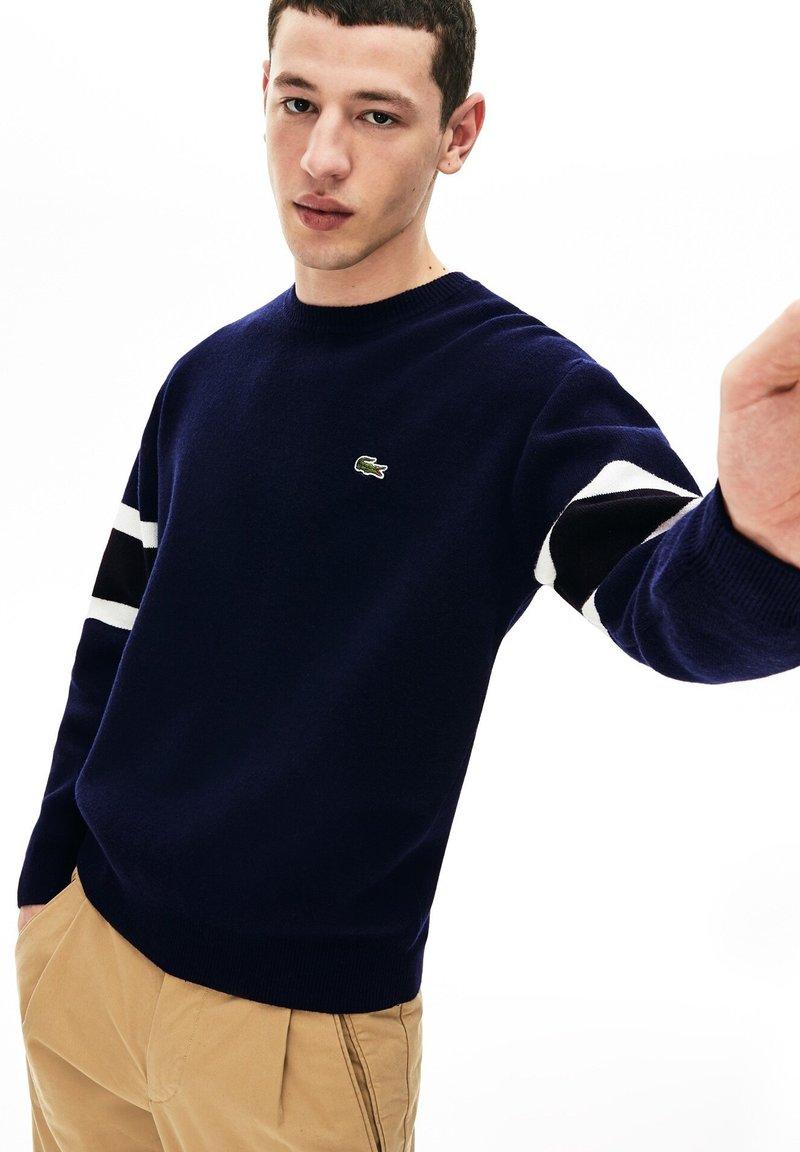 Lacoste - AH8544 - Sweatshirt - navy blue/black/white/yellow