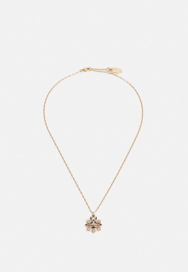 DALILA BAS RELIEF PENDANT UNISEX - Necklace - cobalt/crystal/gold-coloured
