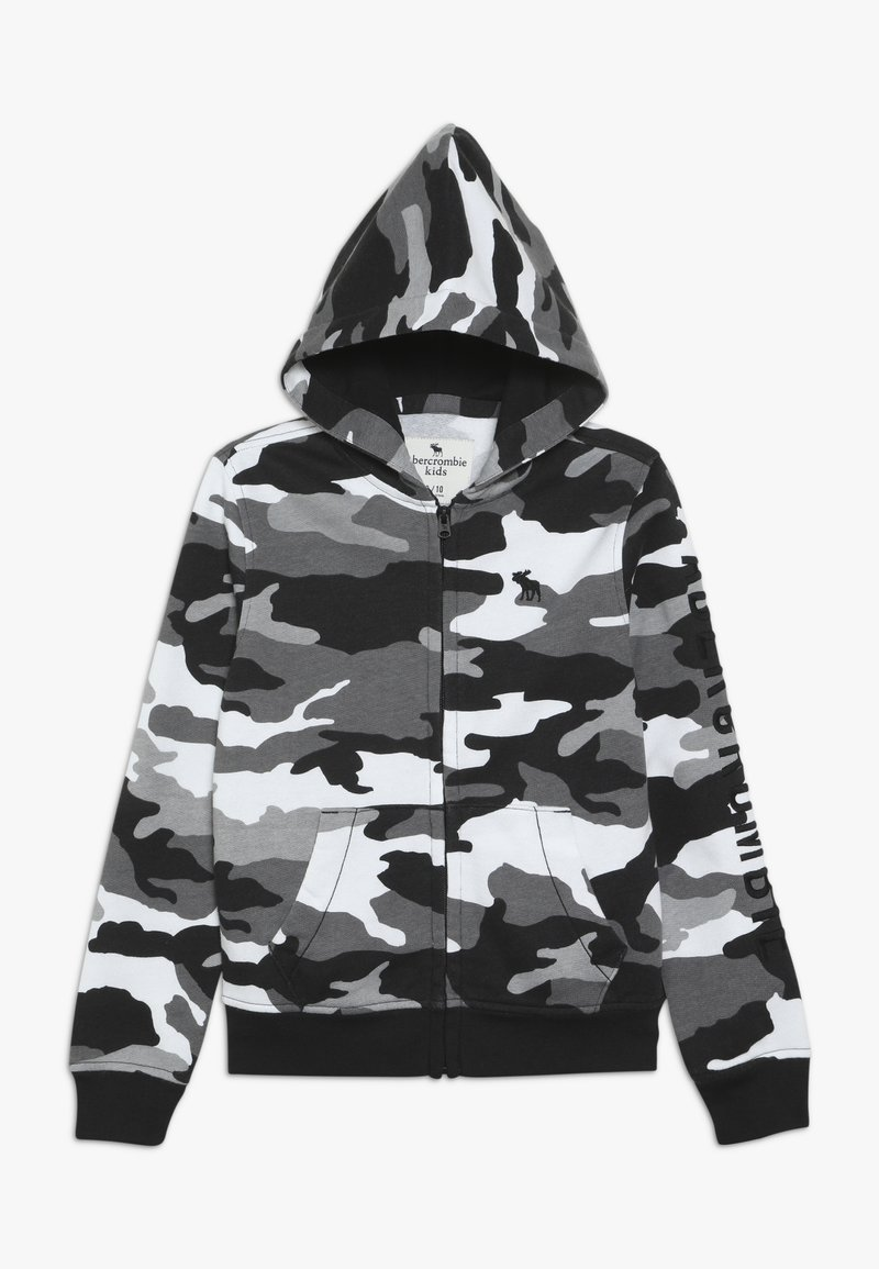 Abercrombie & Fitch - CORE  - Zip-up hoodie - black /white
