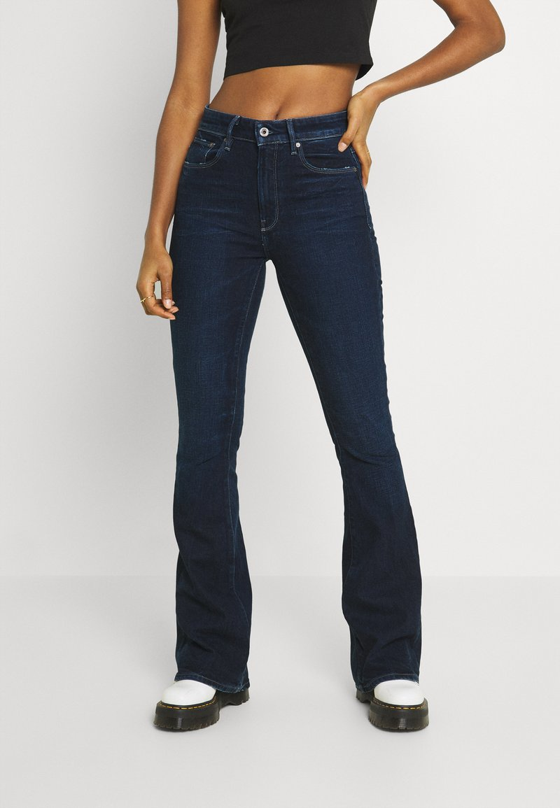 G-Star - FLARE - Flared Jeans - worn in ultramarine
