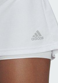 adidas Performance - CLUB SKIRT - Gonna sportivo - white/grey two - 4