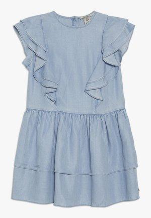 RUFFLE DRESS - Vestido vaquero - sky blue