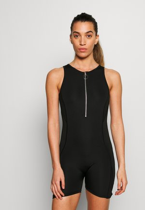SHORT UNITARD - Turnanzug - black