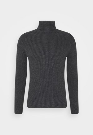 TURTLE NECK - Svetr - dark grey melange