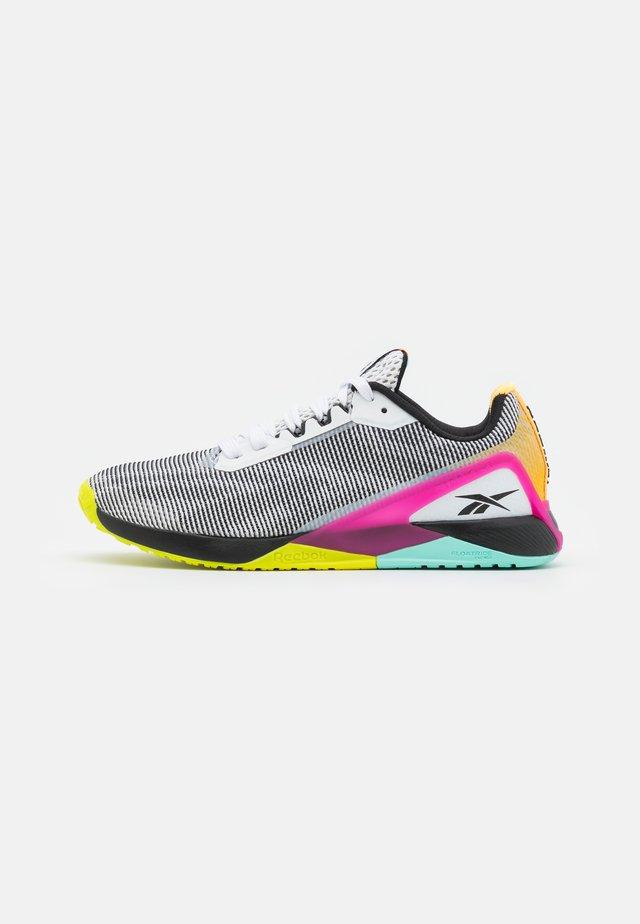 NANO X1 GRIT - Sports shoes - footwear white/core black/pursuit pink