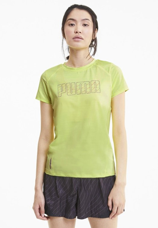Puma - SHORT SLEEVE - T-Shirt print - fizzy yellow