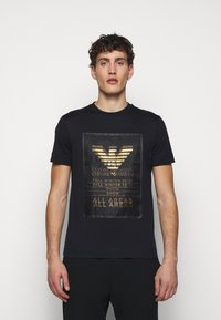 Emporio Armani - T-Shirt print - dark blue - 0