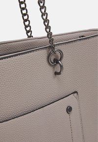 Dorothy Perkins - SLIP POCKET CHAIN HANDLE SHOPPER - Tote bag - dark grey - 3