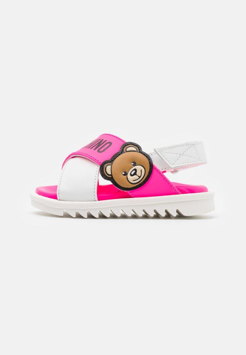 MOSCHINO - Sandals - light pink/white