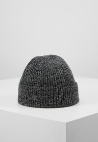 Jack & Jones - JACTWISTED SHORT BEANIE - Muts - black/grey melange - 2
