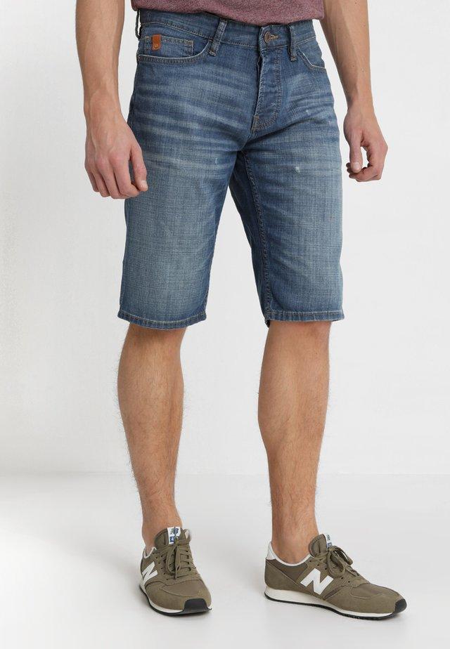 Denim shorts - blue denim non stretch