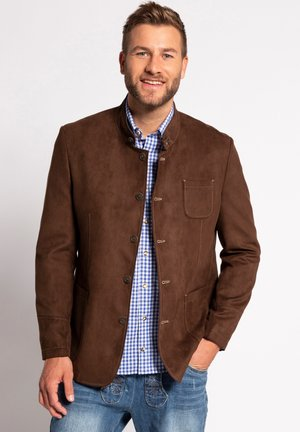 Faux leather jacket - marron