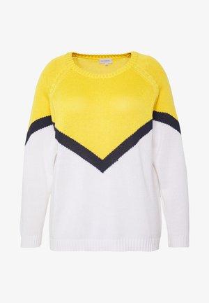 CARSARA BLOCK - Strikkegenser - yellow/white