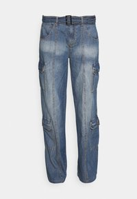 Jaded London - SKATER CARGO WITH BELT - Jeans relaxed fit - blue - 4